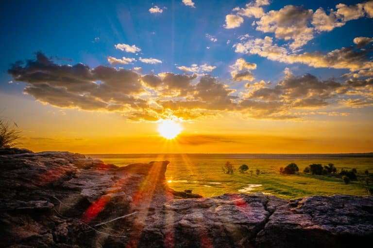 zonsondergang ubirr