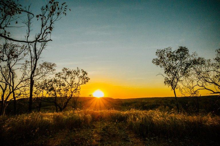 zonsondergang katherine nitmiluk