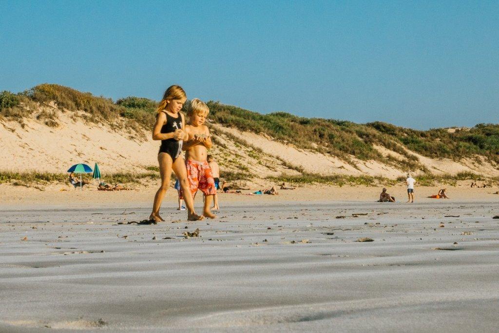 zonsondergang westkust australie cbale beach