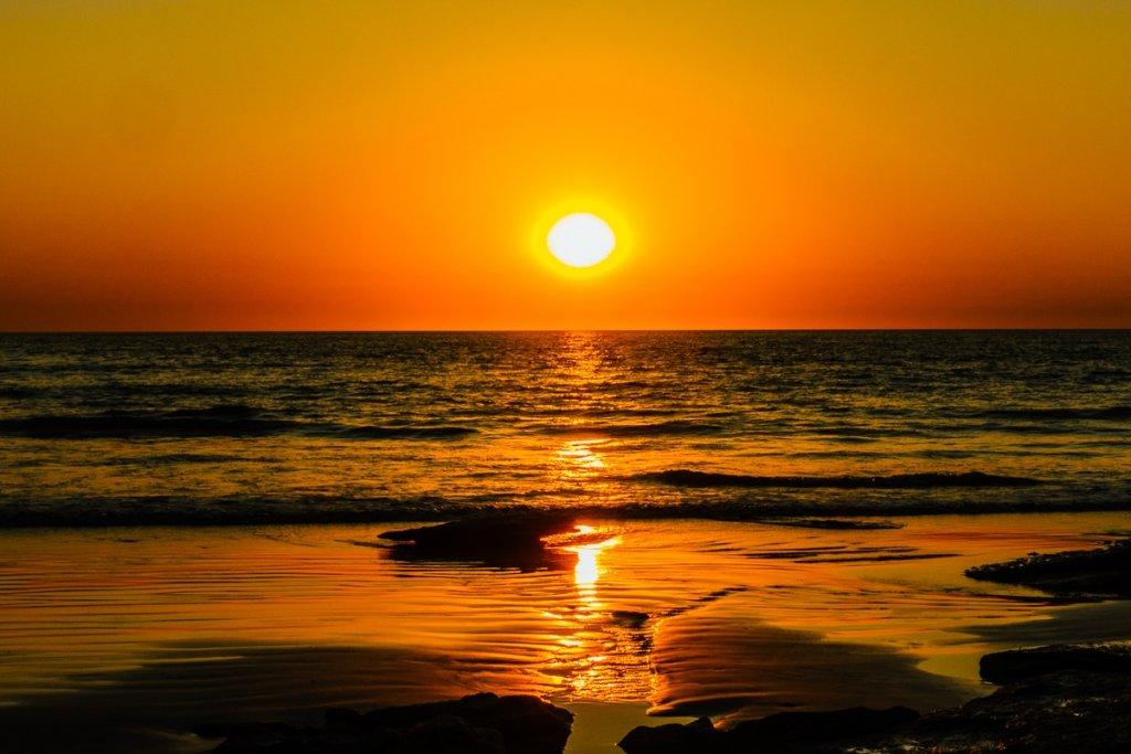 zonsondergang westkust australie