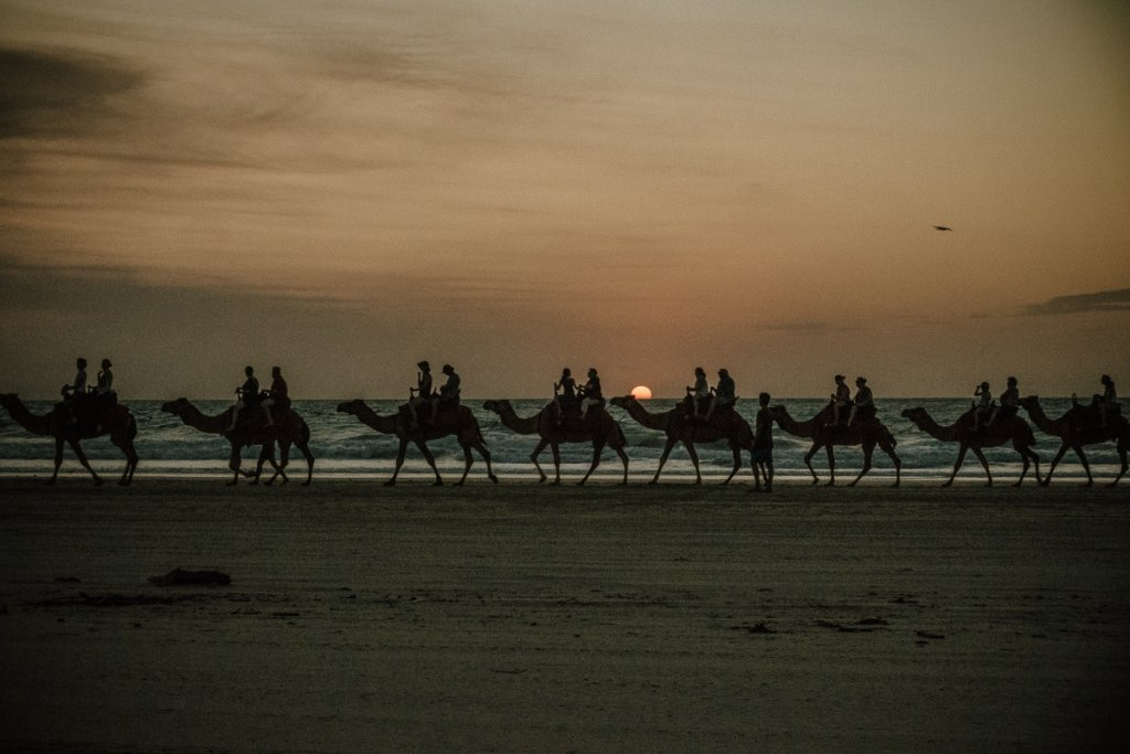 Cable beach broome zonsondergang