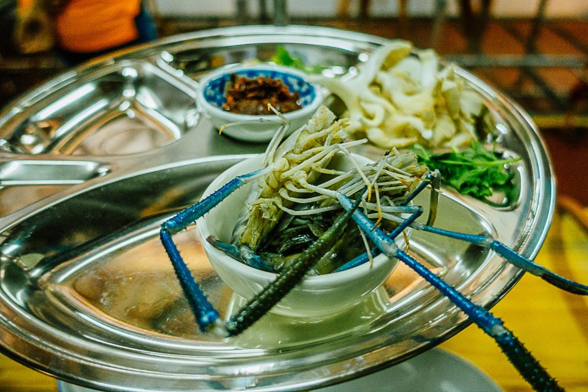 Streetfood van Azie met veel zeevruchten