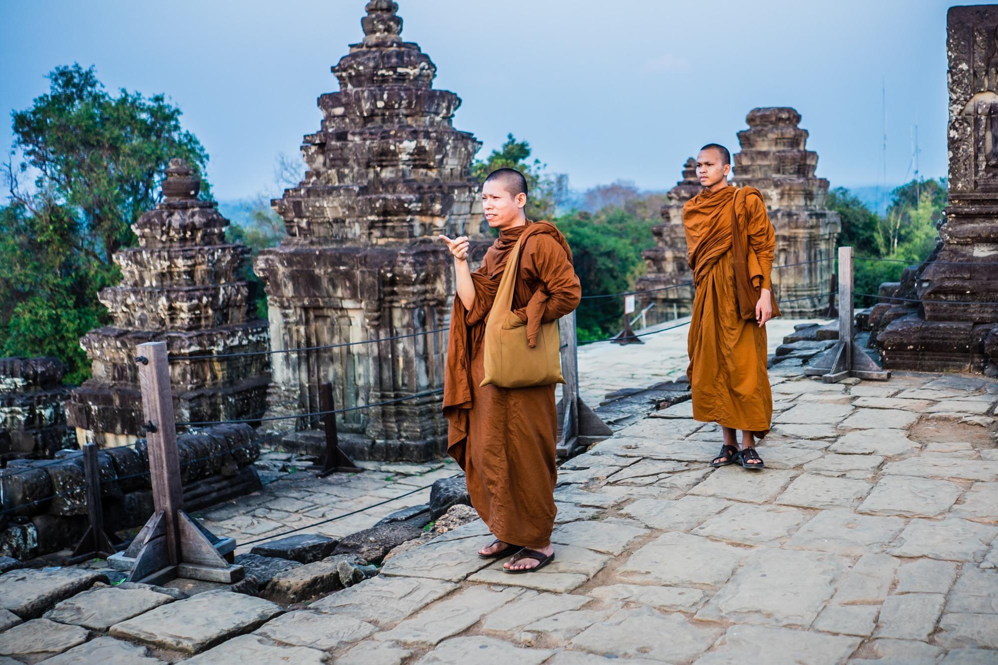 Portretten van Cambodjanen: de monniken.