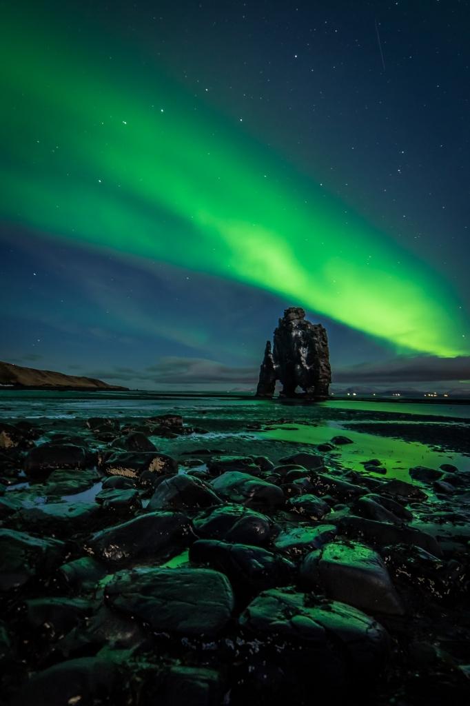 Fotos van IJsland: Noorderlicht boven Hvitsekur