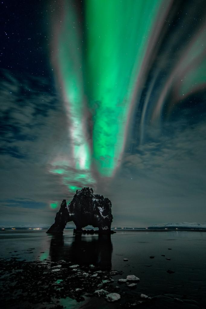 Fotos van IJsland: Aurora boven Hvitsekur