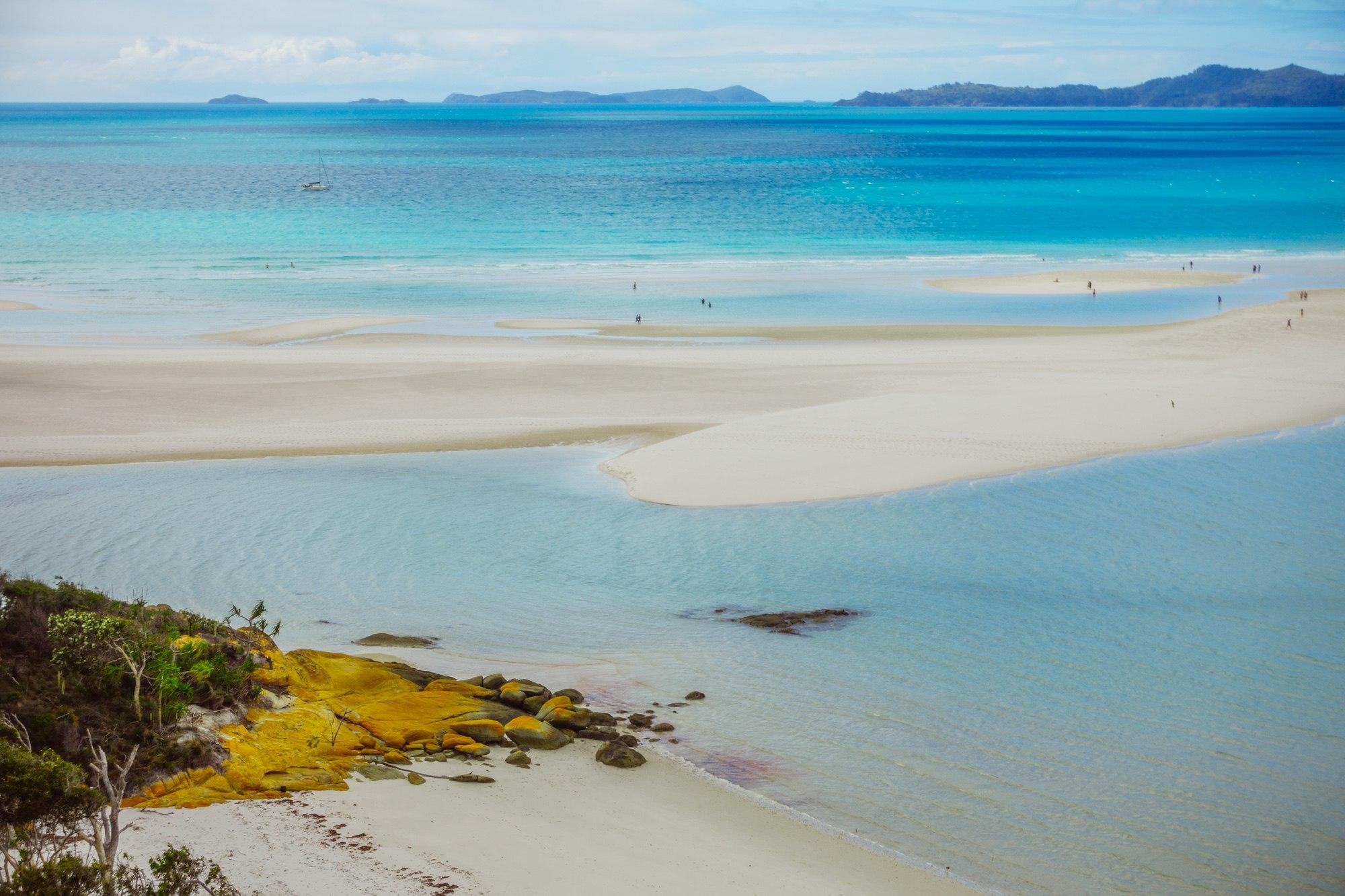 wereldreis plannen whitehaven beach