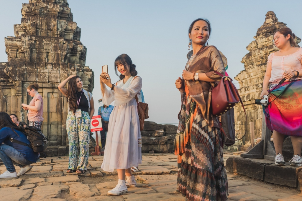 Angkor Wat zonsondergang