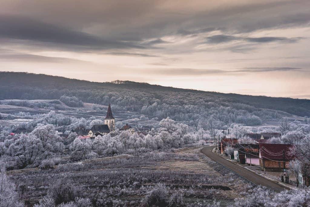 Transsylvanië en de Karpaten: winterse foto's van Dracula zijn achtertuin