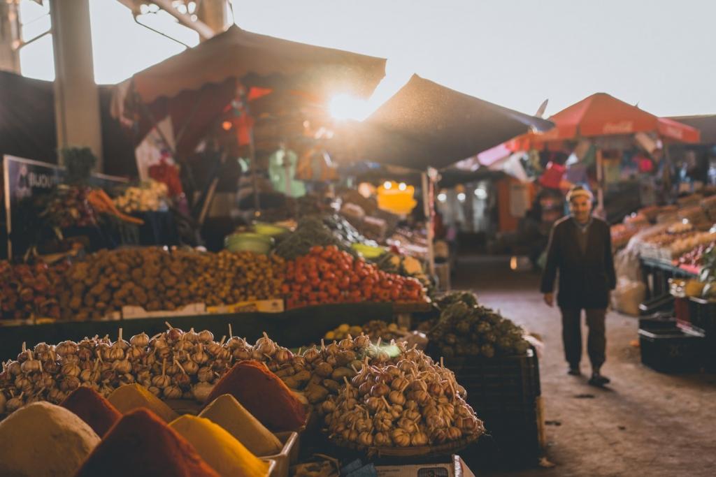 marktje bezoeken Souk El Had d'Agadir