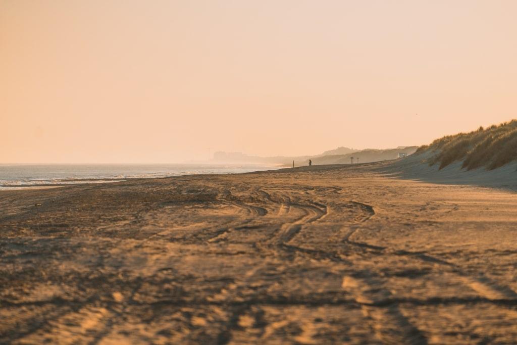zonsopgang belgische kust