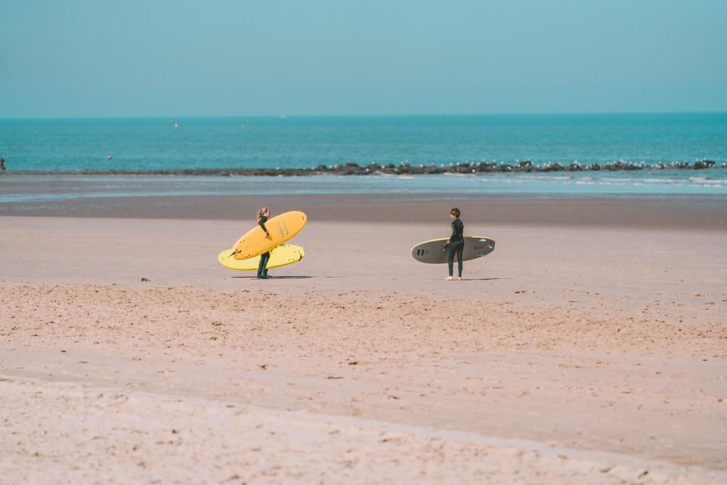 surfen aan de belgische kust