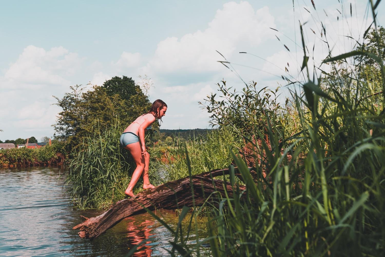 wildzwemmen op de lesse