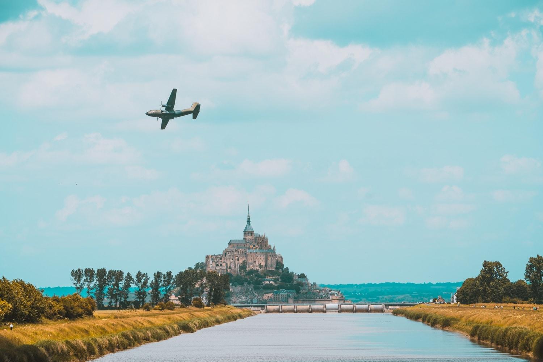 mont saint michel foto vliegtuig