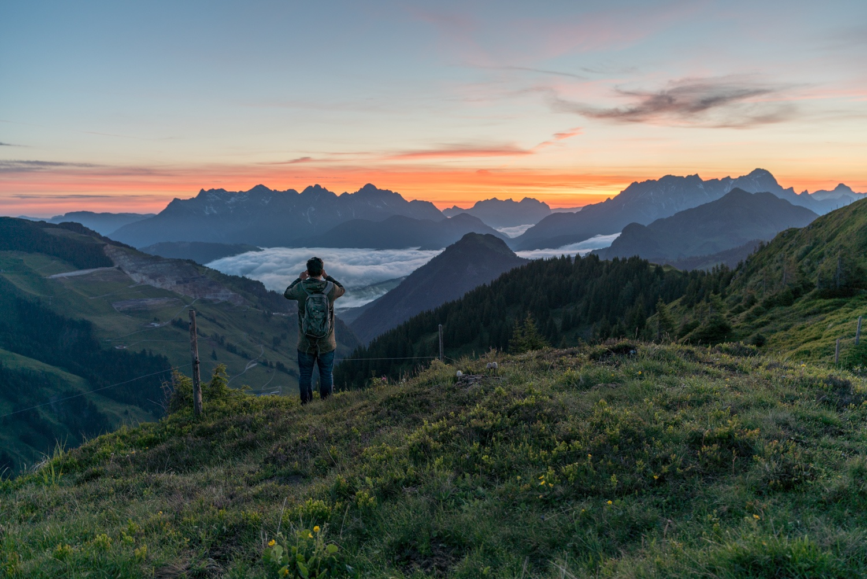 hiken in de bergen