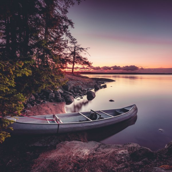 Kanotochten en wildkamperen in Zweden. Jag älskar det!