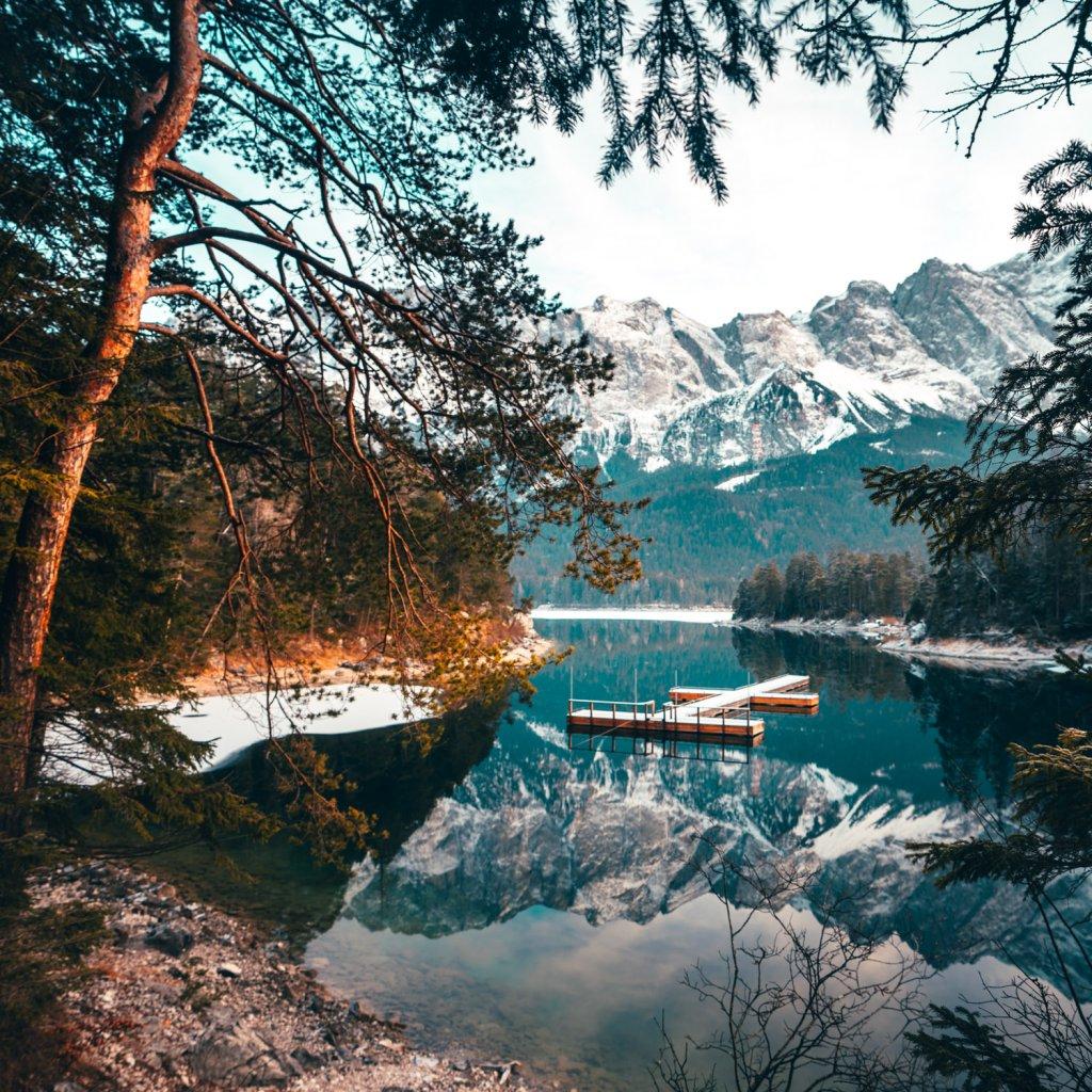bergmeer eibsee kamperen