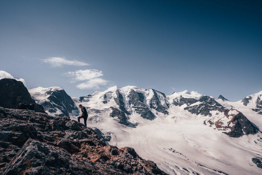 wandelen in zwitserland langs gletsjers
