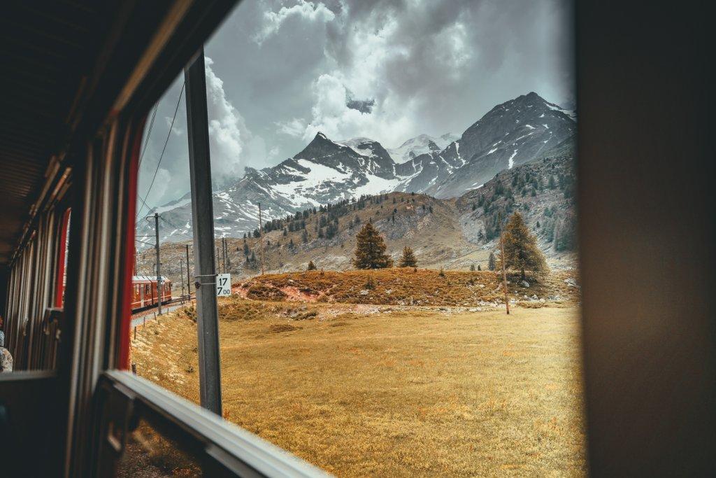 met de trein naar zwitserland
