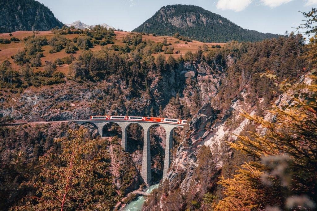 treinvakantie naar graubunden