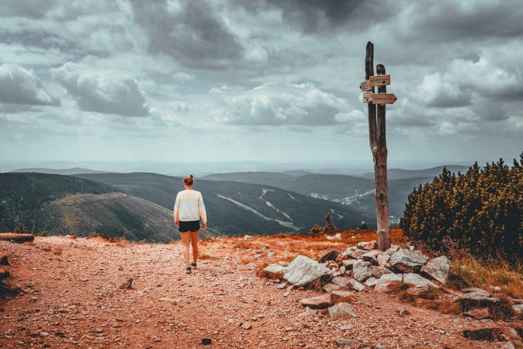 hiken naar de top van Sněžka