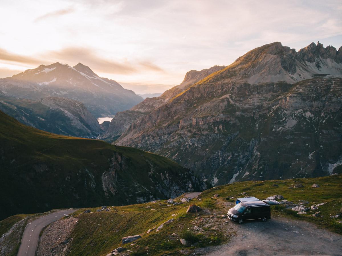 mont blanc meer kamperen