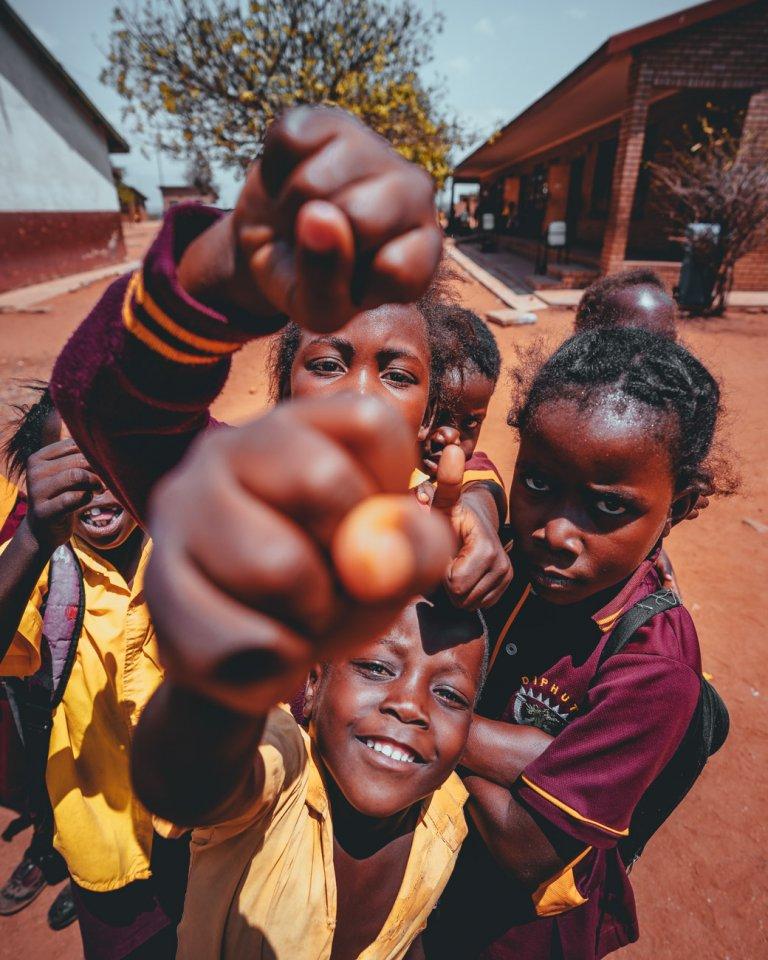 werken met kinderen in afrika
