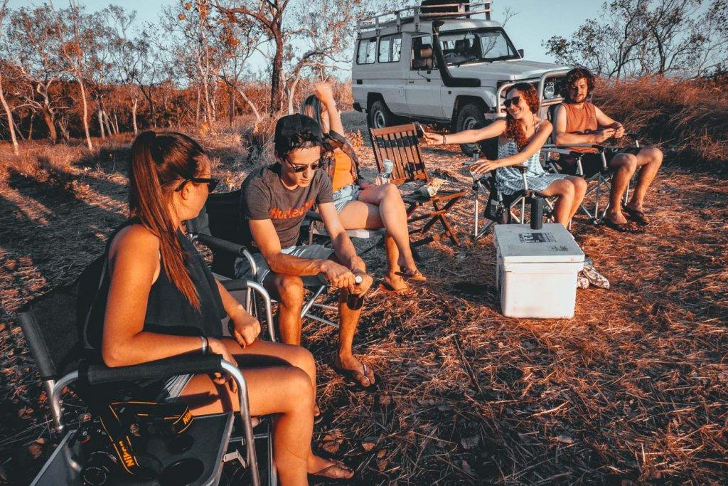 kamperen in het wild in australie