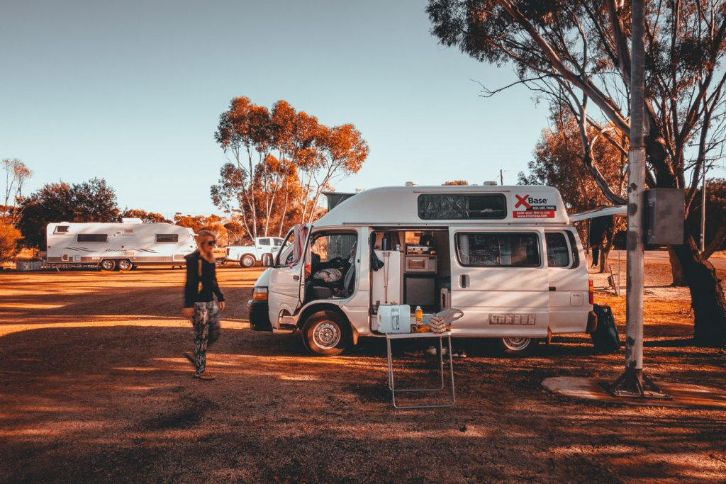 een busje huren in australie