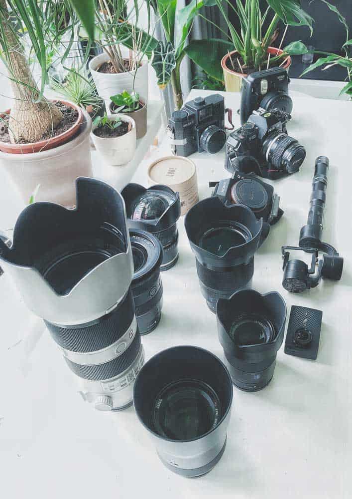 travel fotografie reizen lenzen camera setup