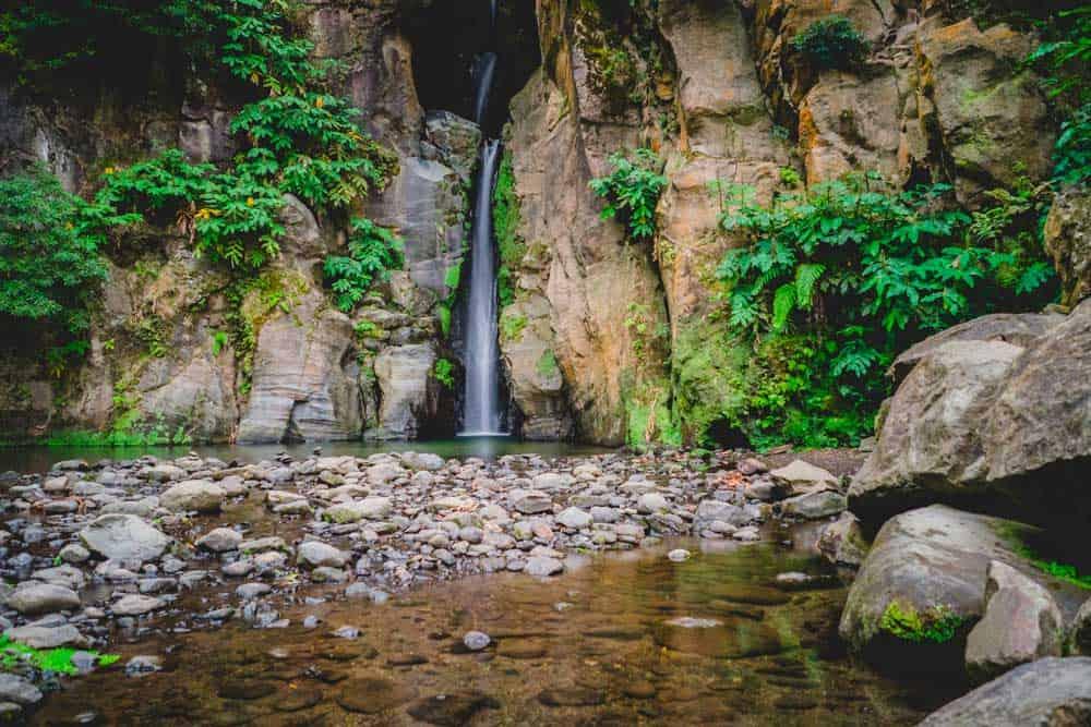 watervallen op de azoren