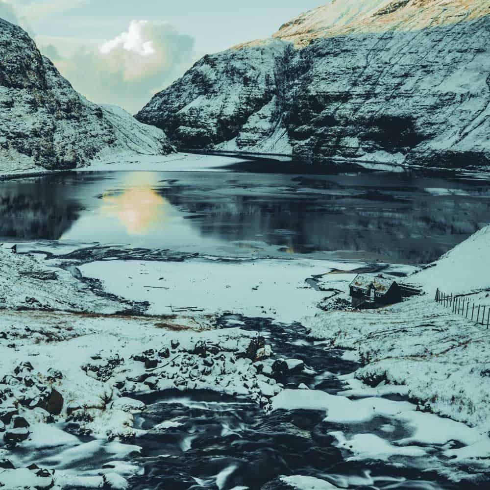Saksun Faroer eilanden