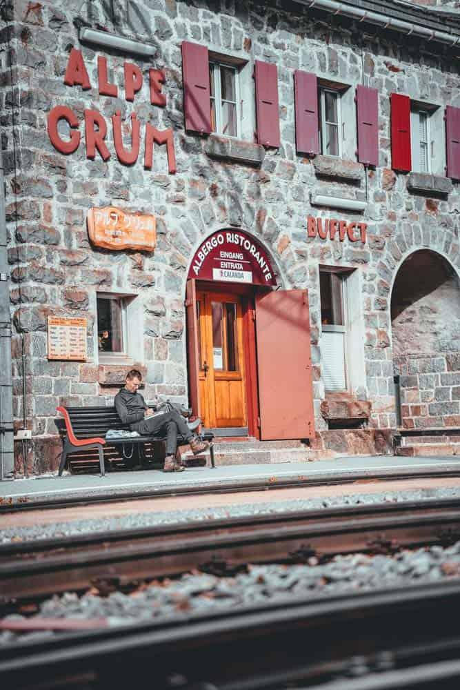 zwitserland de trein nemen