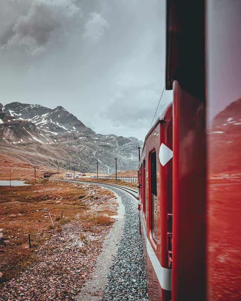 met de trein door zwitserland