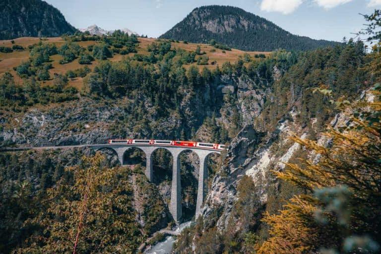 treinreis naar zwitserland