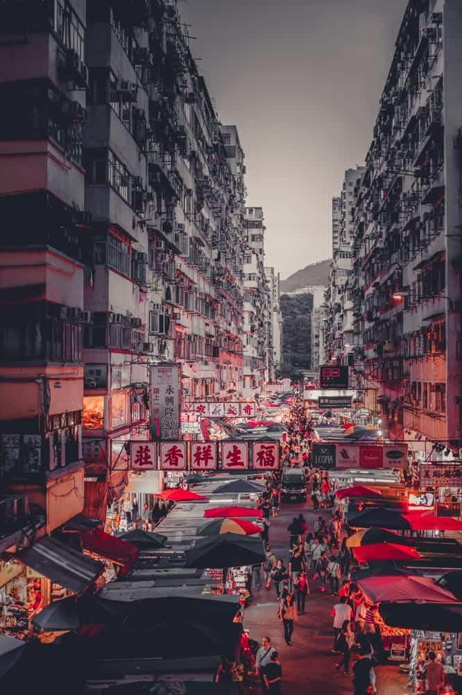 vliegen naar hongkong