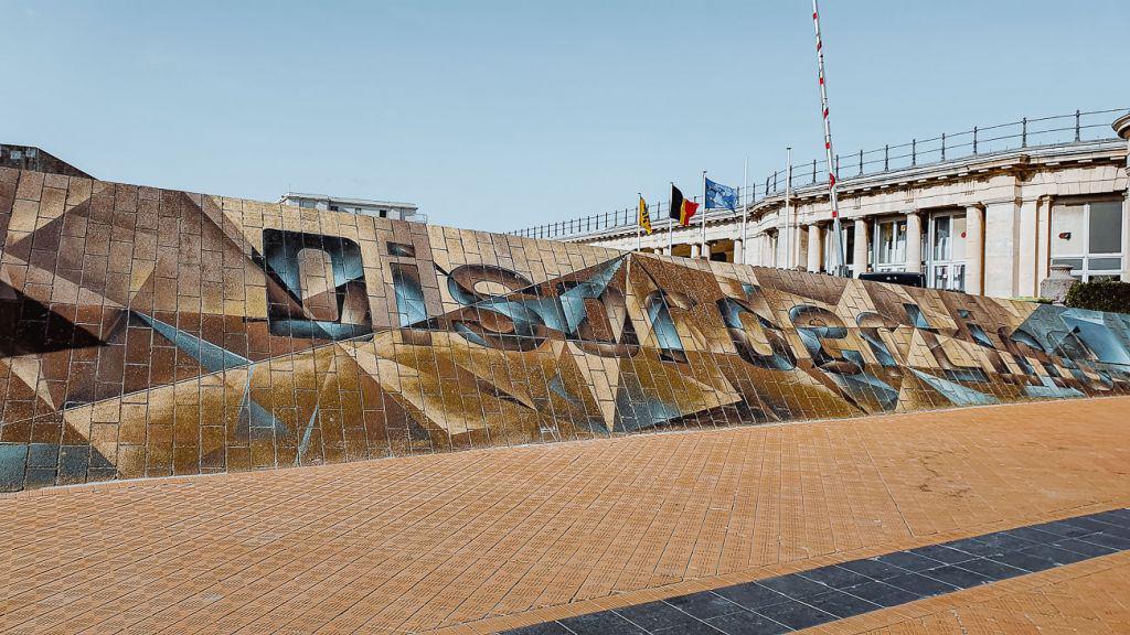kunstwerk Oostende grafitti
