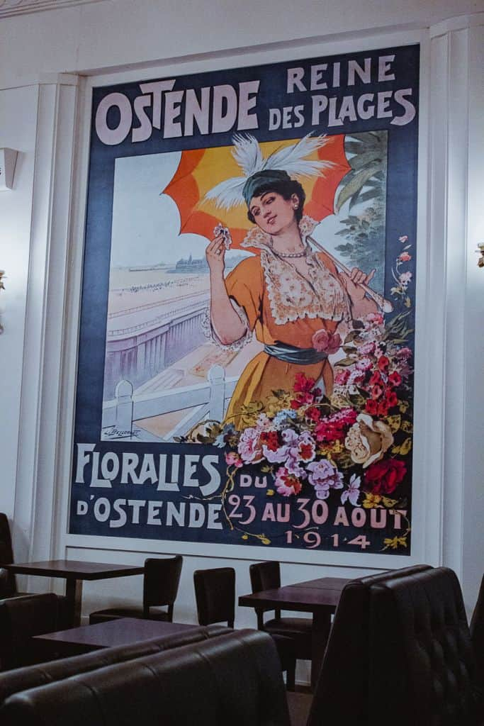 poster thermae palace brasserie albert oostende