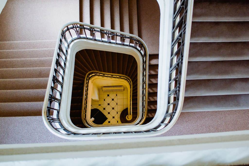 art-deco trappenhuis hotel oostende