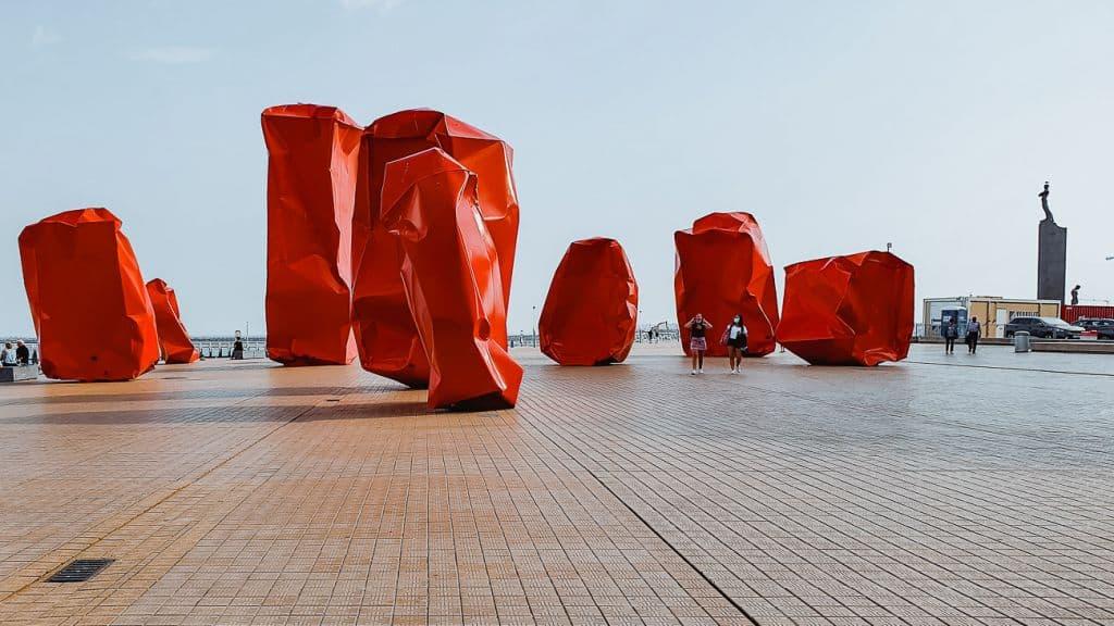 kunstwerk Oostende rock strangers