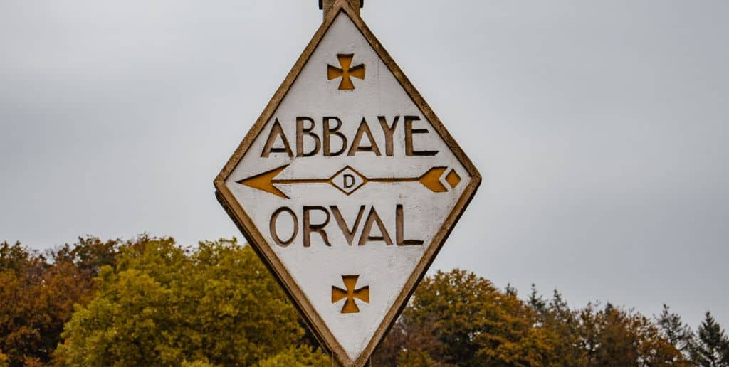 wegwijzer abdij van orval wallonië