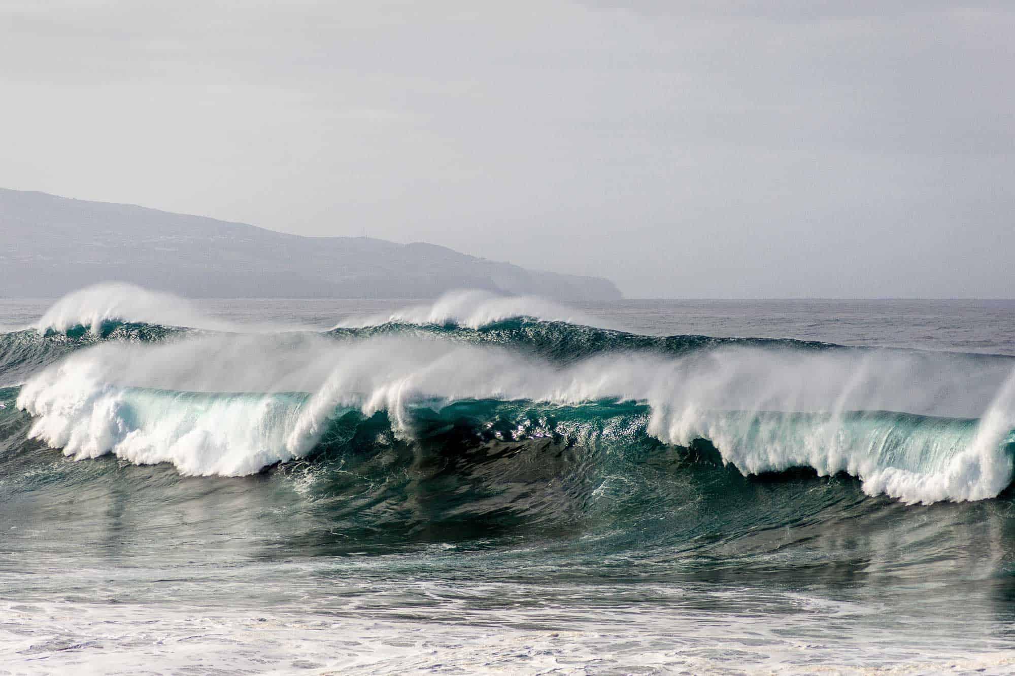surfen op de azoren