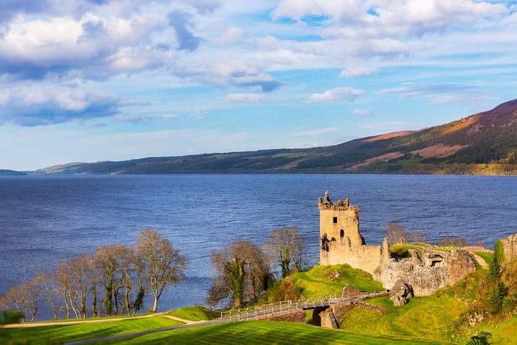 Urquhart Castle in Schotland