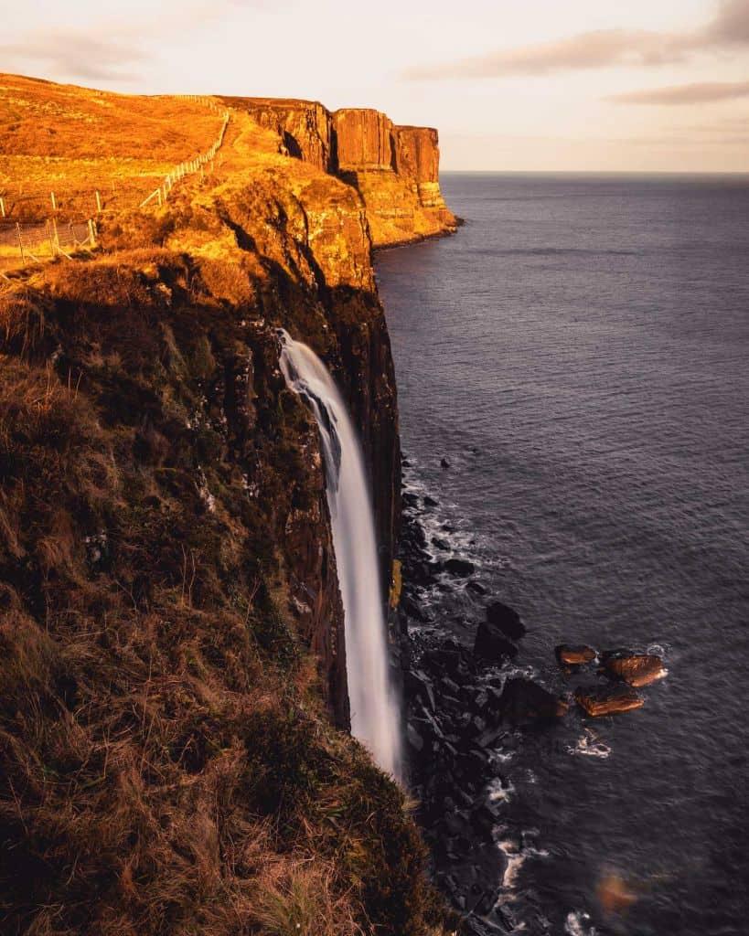Melt falls Isle of skye Kilt Rock