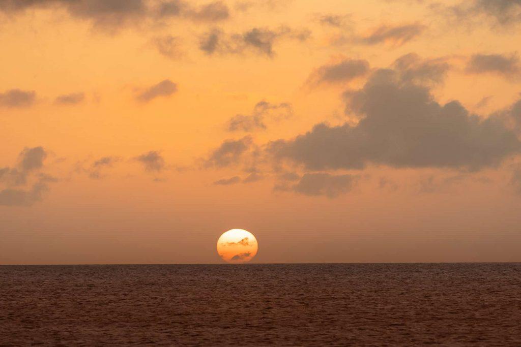zonsondergang caraiben