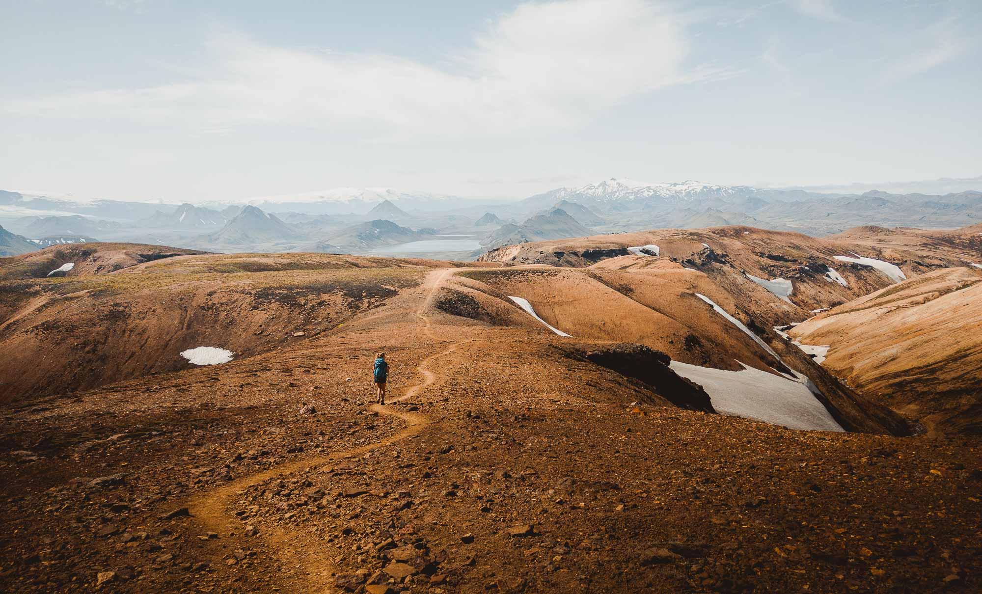 iceland trail hiken wandelen