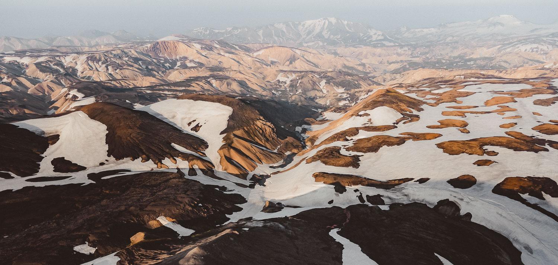 ijsland drone shots