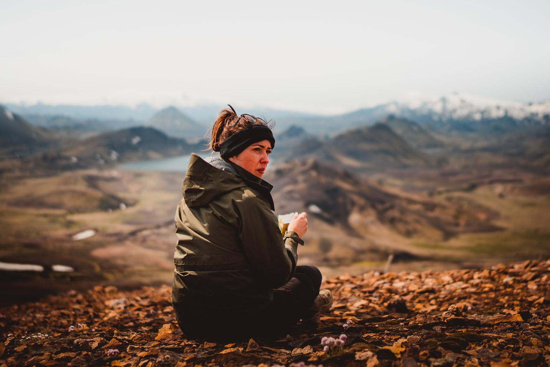 op wandel in ijsland
