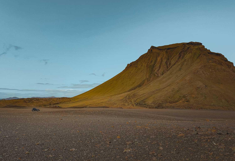 trektocht in binnenland ijsland