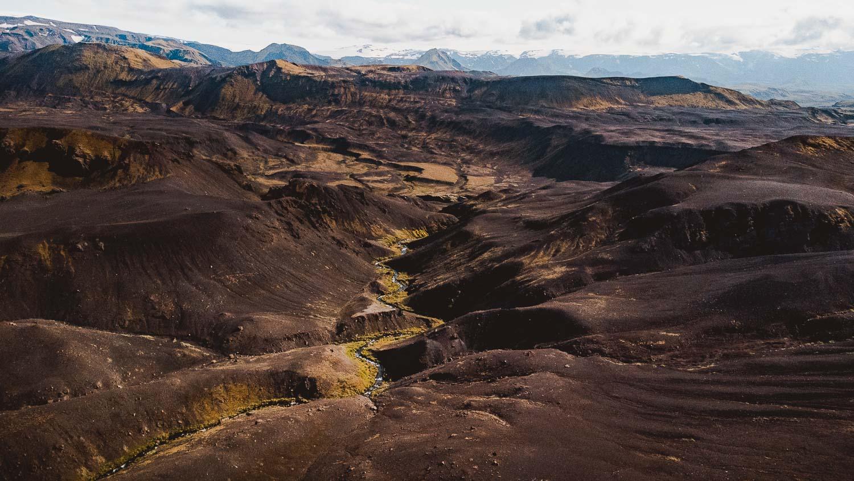 drone fotos van ijsland