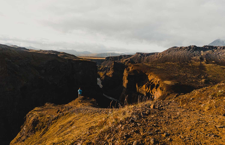 ijsland foto canyon